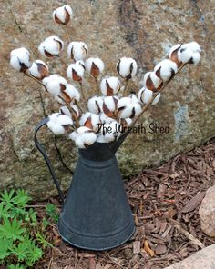 "Ships Free, 3-20"" Natural Cotton Bolls, Cotton Stems, 2nd Anniversary, Farmhouse Cotton, Cotton Supply, Cotton Branches, Cotton Boll Spray"