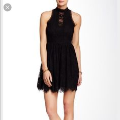 Free People Verushka Lace Dress -- Black Free People Verushka Lace Dress. New with Tags. Never worn. It's lined and the lace is really pretty. Free People Dresses Mini