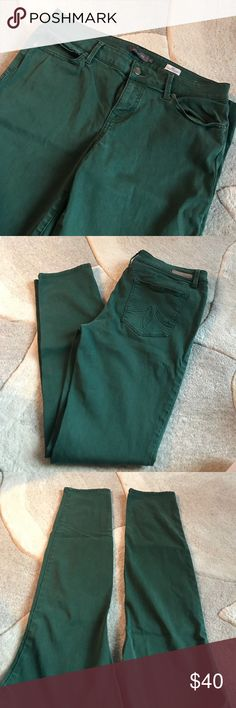 Green Skinny Jeans, Lily Skinny Straight Cut Soft green jeans with stretch to them. I'm 5'8 and they are long enough, they hit right below the ankle. Slim flattering fit. Could also be cuffed. Level 99 Jeans Skinny