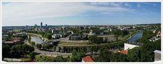 wilno | Na początek dwie panoramy Wilna - widok z wieży Zamku Górnego na ...