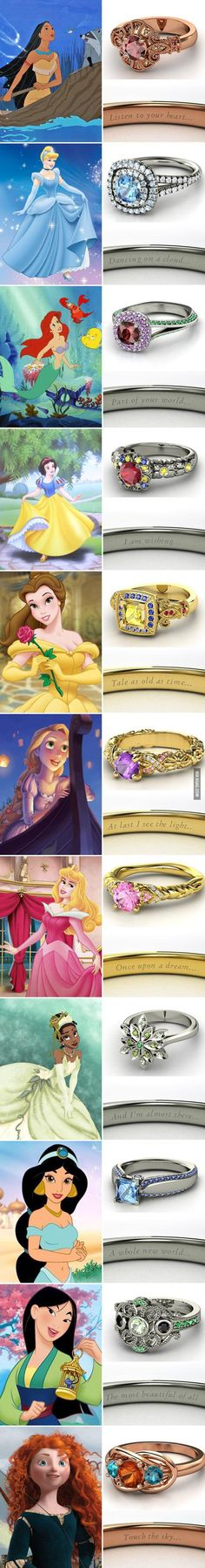 Inspired by your childhood. A ring to represent every Disney movie that ever meant anything to you.