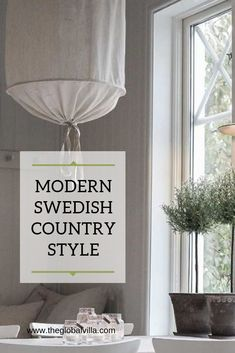 """""""What is modern Swedish country style?"""" It is relaxed, yet stylish.You won't find checks or stripes or anything purposely distressed. Materials are organic, walls and floors are white, and mid-century modern and trendy elements often make an appearance. Scandinavian Cottage, Swedish Cottage, Swedish Decor, Swedish Style, Swedish Design, Scandinavian Interior, Scandinavian Design, Irish Cottage, Scandi Style"""