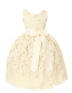 Amazon.com: Sweet Kids Girls Floral Embroidered Lace Flower Girl Dress: Clothing