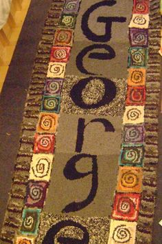 Personalized  hand hooked rug for child by AccentsByAbby on Etsy, $800.00