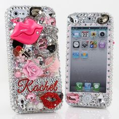 Style # PN_1048 Bling Cases, Personalized Name Custom Made crystals Lips and Ring design case for iphone 5, iphone 5s, iphone 6, Samsung Galaxy S4, S5, Note 2, Note 3, LG, HTC, Sony – LuxAddiction.com