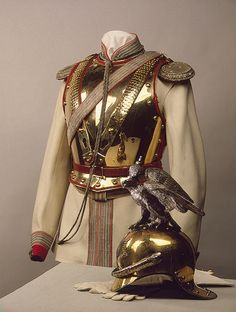 Tsar Nicholas II's officer uniform of Her Majesty Empress Maria Fyodorovna's Cavalry Guards Regiment, circa 1900-1910.