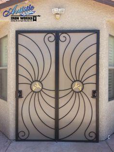 Hummingbird - Wrought Iron Security Screen Patio Doors - Model: FD0051D