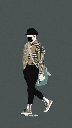 cr.lam2lam2lam2 Boy Drawing, Korea Boy, Cute Art Styles, Tumblr Photography, Digital Portrait, Book Cover Art, Kpop Fanart, Tomboy Fashion, Boy Art