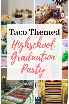Here is everything you need to throw a showstopping taco themed high school graduation party. Source by simplycassidylucille Vintage Graduation Party, Outdoor Graduation Parties, Graduation Party Centerpieces, Graduation Party Planning, Graduation Party Foods, Graduation Party Invitations, Graduation Ideas, Graduation Decorations, Graduation Pictures