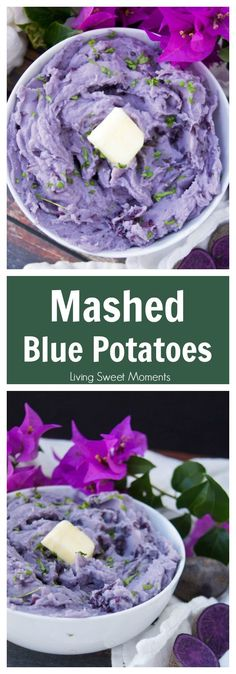 These beautiful blue mashed potatoes feature amazing color with the same texture and taste you enjoy in your favorite potatoes. A cool & unique side dish.  via @Livingsmoments