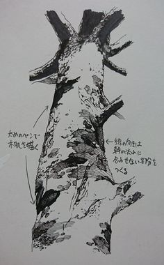 Tree Sketches, Drawing Sketches, Comic Tutorial, Comic Layout, Landscape Drawings, Ink Pen Drawings, Ink Illustrations, Anime Sketch, Drawing Techniques