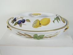Vintage Royal Worcester Evesham Covered Casserole by HoneyYourHome