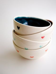 <3 ceramic bowls