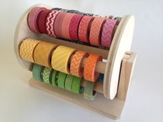Washi Holder/Dispenser. Each wheel will hold up to 72 rolls of washi tape and our design makes it quick