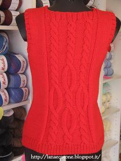 Lana e Cotone (maglia e uncinetto): Gilet della Drops