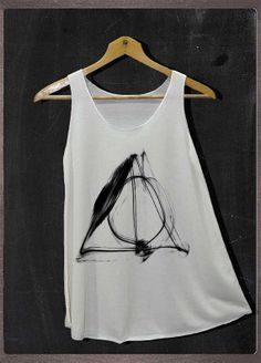 Deathly Hallows Normal Symbols Harry Potter Shirt Tank Top Women Size S and M on Etsy, $16.35 CAD
