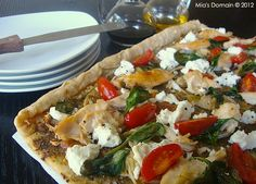 Mia's Domain | Real Food: Chicken Vegetable Flatbread