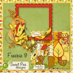Scrapbooking TammyTags -- TT - Designer - Sweet Pea Designs, TT - Item - Frame, TT - Style - Cluster, TT - Thing - Butterfly or Bug, TT - Primary Color - Yellow or Gold