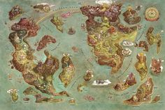 A Gorgeous and Extensive Video Game Map | Mental Floss