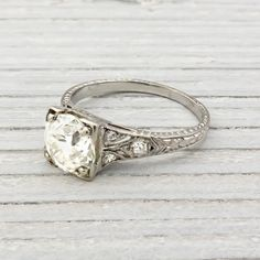 Gorgeous 1.15 Carat Vintage Diamond Engagement Ring | Erstwhile Jewelry Co.