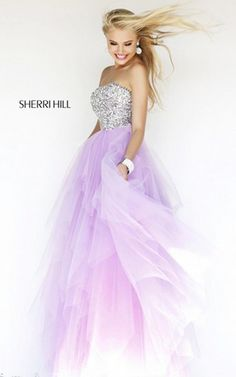 Classic Sherri Hill 11085 Purple Prom Dress 2015
