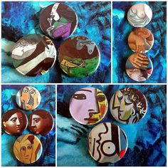 Picasso Pins 2 #badges #Pins #Picasso #art #museum #colour #faces #portrait #buttons #Toronto #TDOT #nudity #connect by beawesomeshoppe