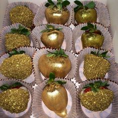 Gold strawberries