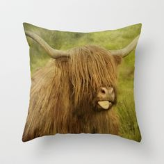 """Cheeky Moo"" Throw Pillow by Peaky40 - $20.00"