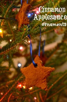 Easy to make Cinnamon Applesauce ornaments