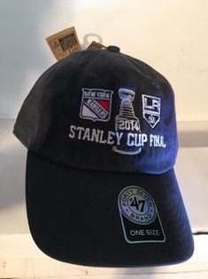 best cheap b309f 8c748 Details about  47 NY Rangers LA Kings Stanley Cup Final 2014 Cap NHL Ice  Hockey One Size All