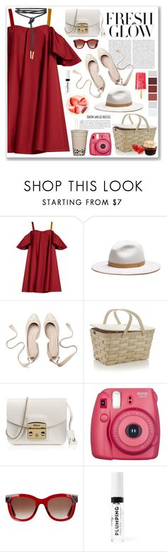 """""""fresh glow"""" by yumadh ❤ liked on Polyvore featuring Anna October, Oris, rag & bone, Crate and Barrel, Furla, Fujifilm and Thierry Lasry"""