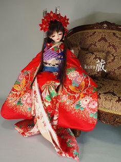 (富茂作)MSD少女用姫衣装■紅香姫■