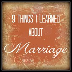 On being married... Wonderful marriage advice from someone who has been with her spouse for 20 years