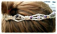 Custom Designed Tiara (side view) by Entwined Artwear & Gifts