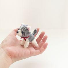 crochet siberian husky dog puppy doll 손뜨개 시베리안허스키 강아지 인형 by isoDreams 이소의 꿈타래