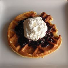 Gluten Free Waffles with Berries and Whipped Cream