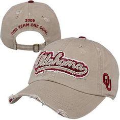 Top of the World Oklahoma Sooners Coach Sherri Coale 2009 Women's Basketball Distressed Adjustable Hat - Khaki