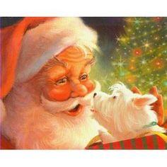 : West Highland Terrier & Santa Claus Christmas Cards