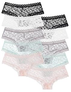 10-Pack: Free to Live Women's Trimed Sexy Lace Boy Short Panties * CHECK OUT MORE INFO @: http://lingerie4everyone.com/store2/10-pack-free-to-live-womens-trimed-sexy-lace-boy-short-panties/