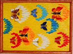 "NEW! Painting ""Butterflies"".Wall Art, Acrylic Painting On Wood, Original Painting, Wall Decor, Glass Art, Artwork by Alex Pelesh. by PeleshArtStudio on Etsy"