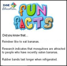 Fun Facts 116 from Zane Education at http://www.zaneeducation.com