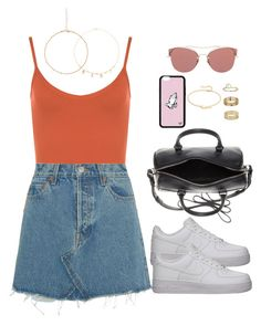"""music festival day. 3 ~"" by ohsnapitzblanca ❤ liked on Polyvore featuring WearAll, RE/DONE, NIKE, Yves Saint Laurent, Miu Miu, Jennifer Zeuner, Miss Selfridge, Frasier Sterling, StreetStyle and Summer"