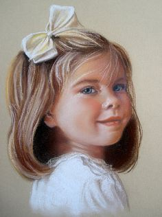 Custom Portrait Pastel Drawing of a Child or by KathyKellerBauer, $300.00