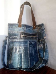 b4cabc6dc6 Women s bag of jeans. A stylish bag of recycled jeans. Old jeans. A