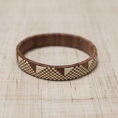 Lauhala Bracelet / Medium Brown