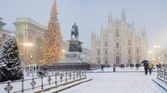 Milan, Italy Milan's proximity to some gorgeous mountains make it a wonderful place to visit in winter.