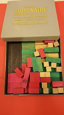 Cuisenaire vintage set counting number rods 1970's Made in Australia mathematics