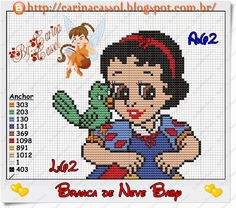 Baby Snow White perler bead pattern by Carina Cassol - Pontinhos Mágicos