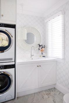 Laundry, powder room combo — THREE BIRDS RENOVATIONS