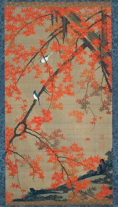 Maple Tree and Small Birds, c. 1765–1766